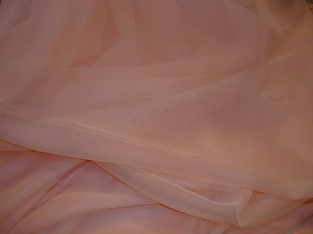 Púder színű voile függöny